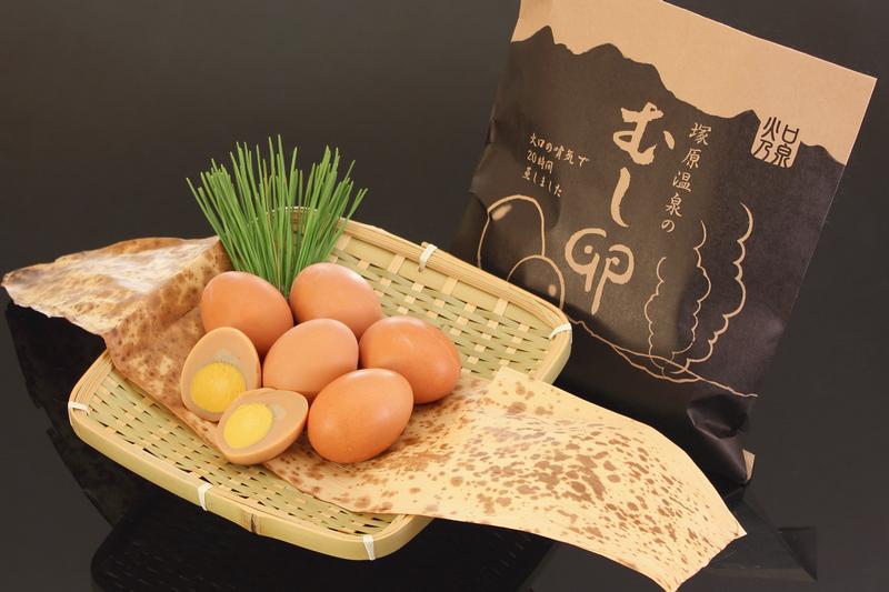 塚原温泉名物「蒸し卵」
