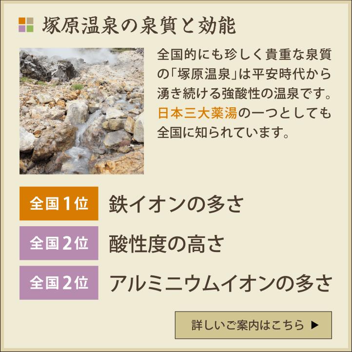塚原温泉の泉質と効能