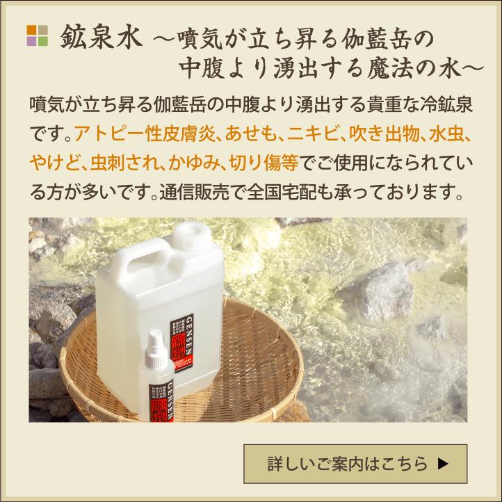 塚原温泉の鉱泉水
